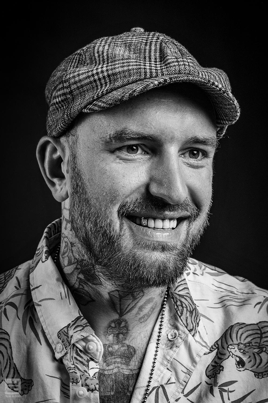 Portret Fotografie - Ben Saunders | zwart wit media portret.