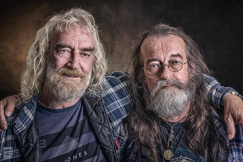 Portret Fotografie - 2 oude vrienden vastgelegd in de stijl van Frans Heidenis.