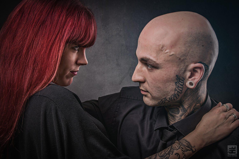 Portret Fotografie - Cinematic portret van verliefd koppel.