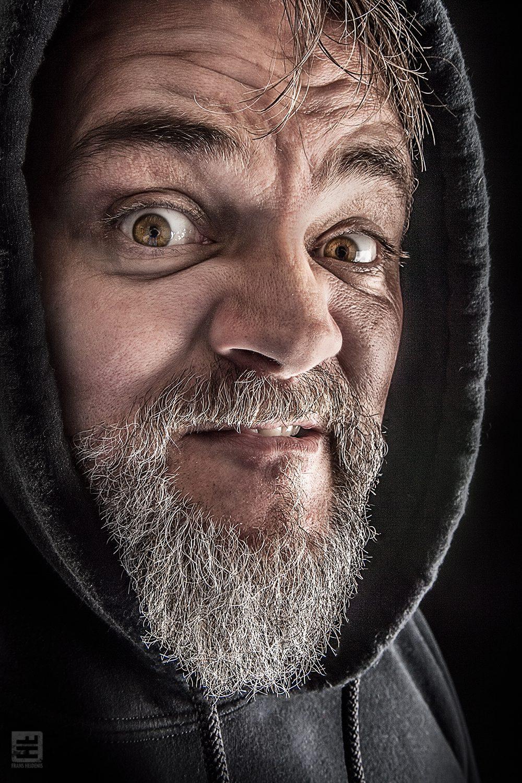 Portret Fotografie - Van zeer dichtbij genomen grappig portret